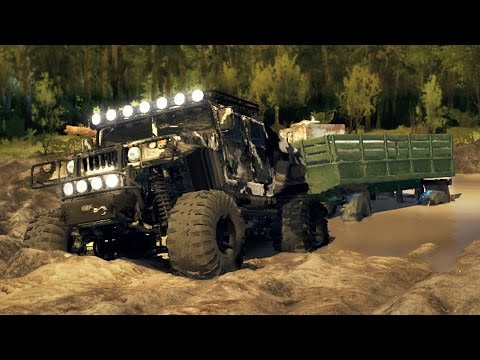 LIFTED ALL-TERRAIN HUMVEE! 4x4 Mudding, Off-Roading, & Hill Climbing! (SpinTires Mods)