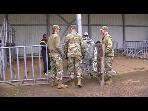 Situational training exercise at United States Army Regional Correctional Facility-Europe, GERMANY