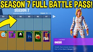 SEASON 7 - TIER 100 UNLOCKED! New Skins, Weapon Camos + MORE! (Fortnite Battle Royale)