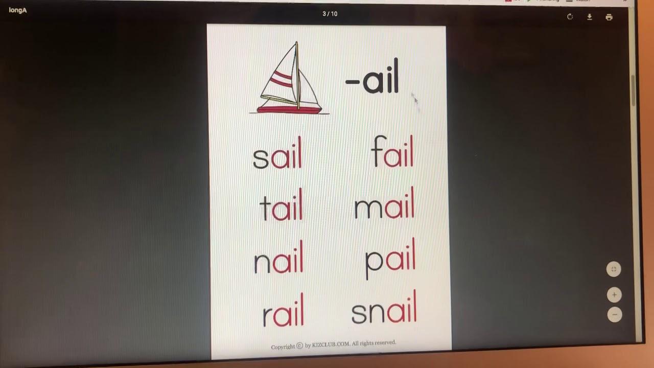基礎發音練習/長音A -ail - YouTube