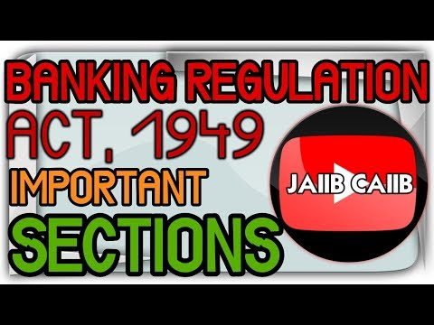 Banking Regulation Act 1949 Important Sections in Hindi JAIIB Live Classes