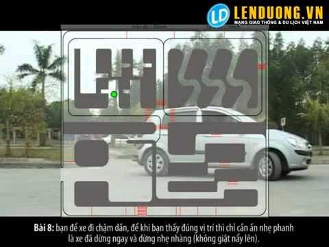 Học lái xe hà nôi: Cho xe vào nơi đỗ (bài 8)