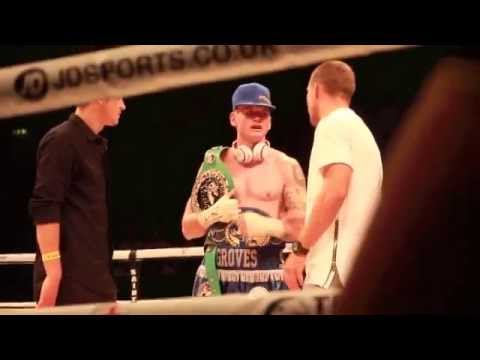 MESUT OZIL, LUKAS PODOLSKI & GEORGE GROVES IN THE RING AFTER FIGHT - THE RETURN OF THE SAINT
