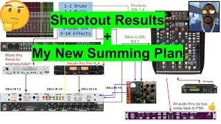 Sum Shootout Answers+My new mix plan (SSL Six, D-Box, Apogee PSX-100)