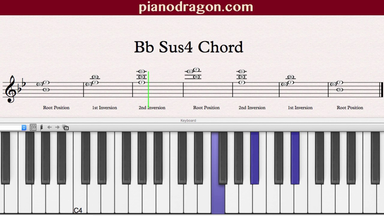 Bb Sus4 Chord Youtube