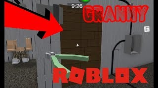 Granny backdoor house walkthrough! (Roblox)