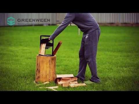 Обзор Ручной мини дровокол GreenWeen для загородного дома