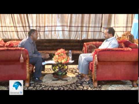 Universal TV Wareysi gaar lala yeeshay Madaxweynaha Federaalka Somalia 20 05 2014