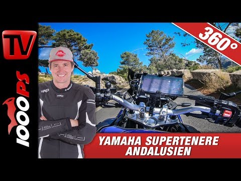 360 Degree - Yamaha Supertenere Andalucia  - Ronda - Onboard Motorcycle Virtual Reality