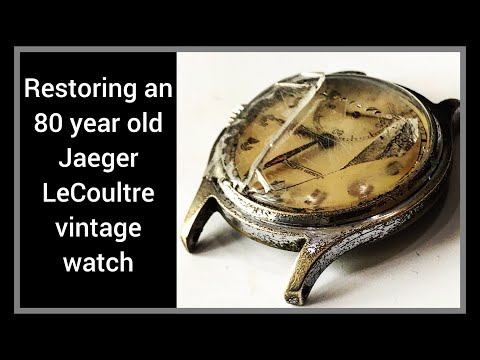 Restoration vintage jaeger lecoultre p469/a service nickel plating watch radium hands relume