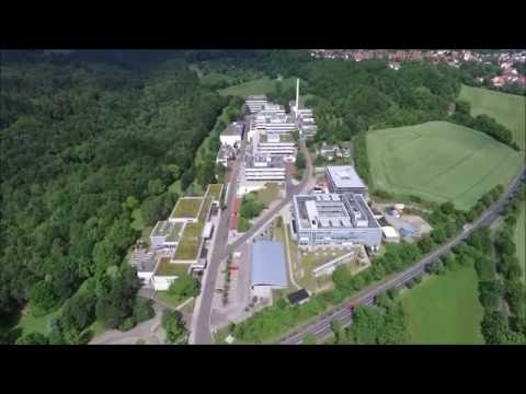Drone flying over the Max Planck Institute for Biophysical Chemistry