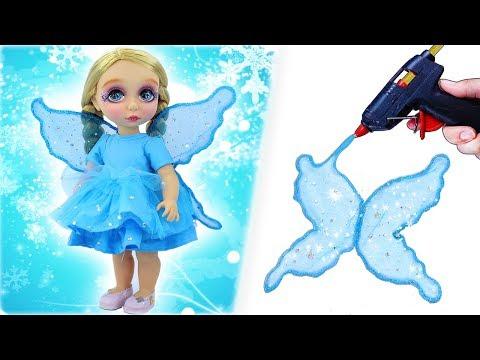 DIY BABY DOLL TRANSFORMATION #3: Custom ELSA Fairy Doll Makeover - Doll Hacks And Crafts