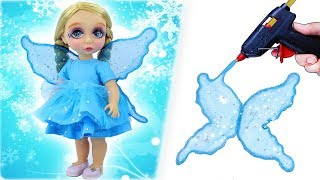 DIY BABY DOLL TRANSFORMATION #3: Custom ELSA Fairy Doll Makeover - Doll Hacks And Crafts