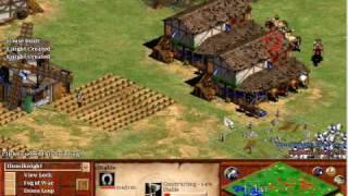 Age of Empires 2 The Conquerors: 1v1 Green Arabia on Hardest, Tutorial on Fast Castle and beating AI