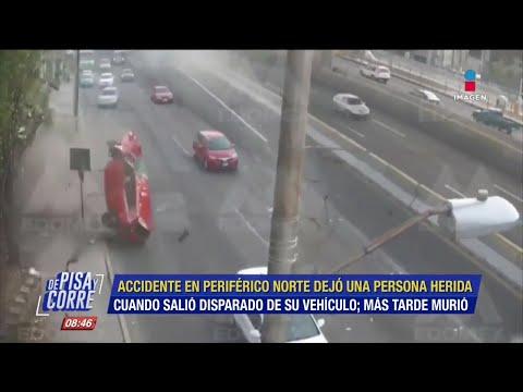 Auto Sale Volando En Periférico. El Conductor Murió | De Pisa Y Corre