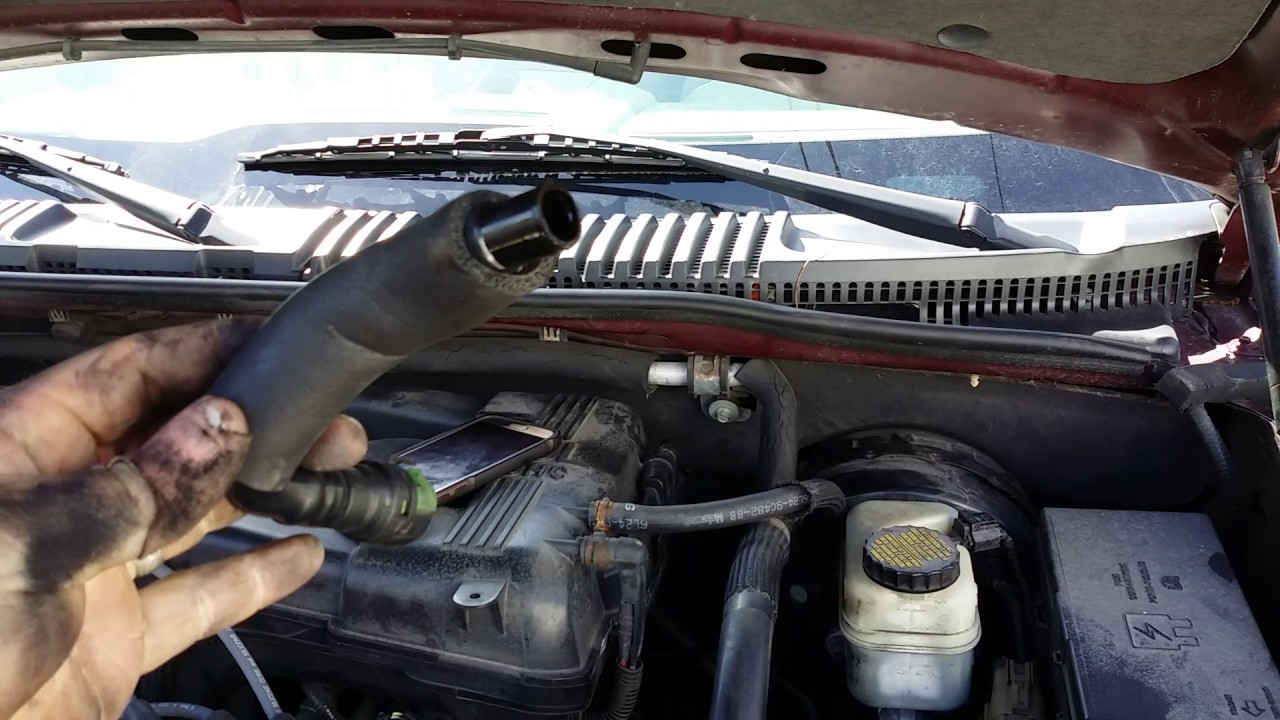 2006 ford explorer pcv valve location and replacement youtube