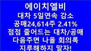 [주식투자]에이치엘비(대차 5일연속감소/공매 24,61…