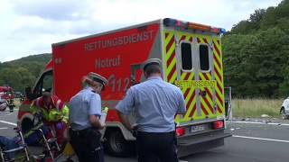 Fünf Schwerverletzte bei Frontalzusammenstoß auf der L539 zwischen Meinerzhagen und Valbert