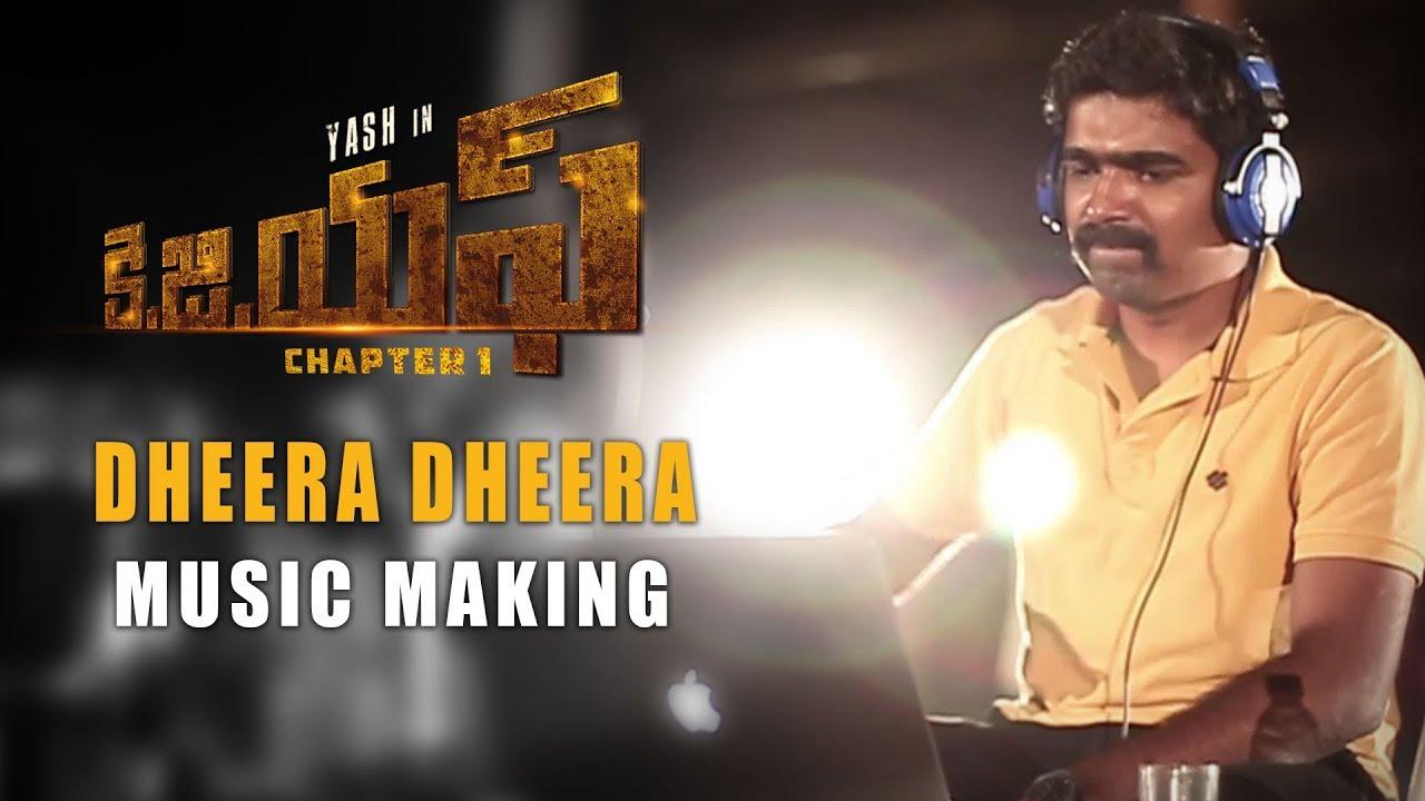 Download Dheera Dheera Music Making Video - KGF Telugu - Yash   Prashanth Neel   Hombale Films