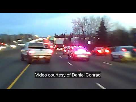 Kristina Kage - Watch: Car blows past rush hour traffic on U.S. 26, Cops give chase