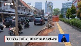 Perluasan Trotoar untuk Pejalan Kaki dan PKL
