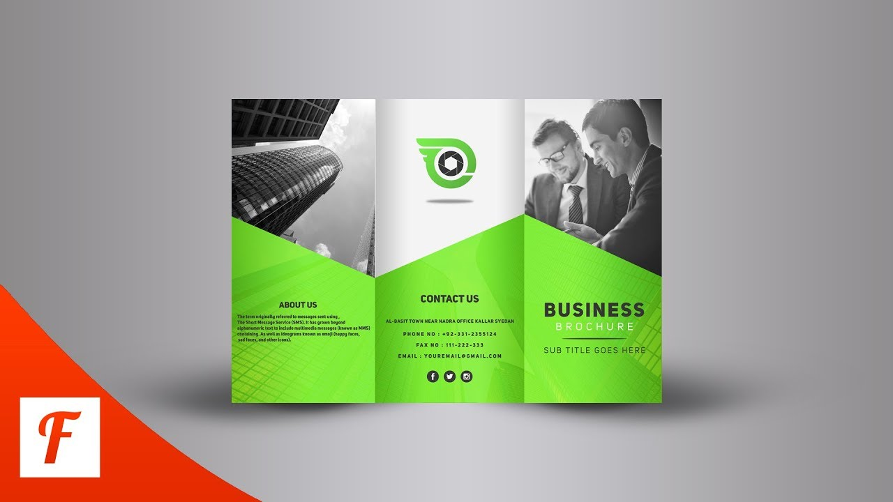 photoshop tutorial professional tri fold brochure design