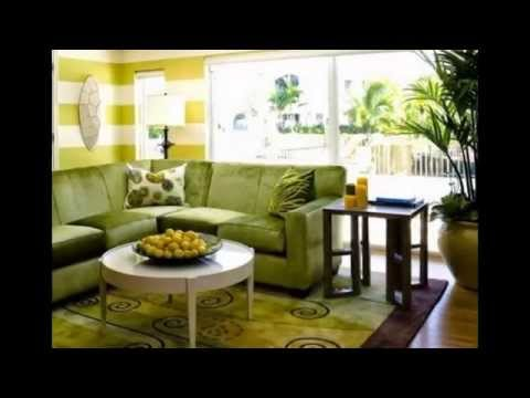Light-green living room