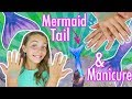 DIY Mermaid Manicure Nail Art and Fin Fun Mermaid Tail Swim With Ava