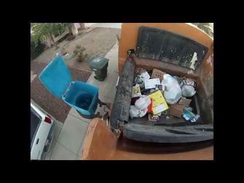 Post Christmas Recycle Jumbo Curbtender HOPPER SHOT
