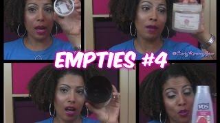 EMPTIES #4:  What Would I Buy Again?  - CurlyKimmyStar Thumbnail