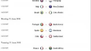 Video World Cup 2010 Full Fixtures download MP3, 3GP, MP4, WEBM, AVI, FLV Januari 2018