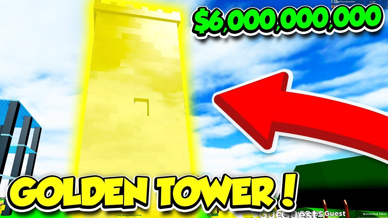 Building A 6 000 000 000 Golden Tower In Building Simulator