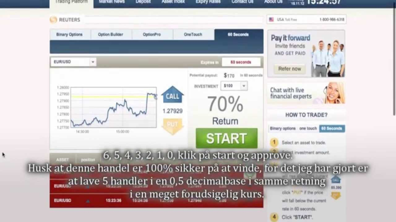 Bedste binære optioner online handel