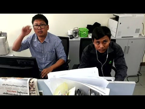 Two Reuters journalists facing jail in Myanmar