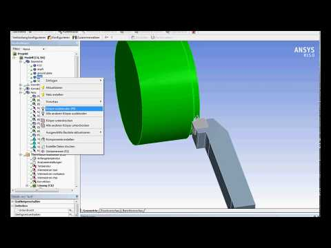 Ansys Workbench one way thermal structural coupling of a turning process tutorial