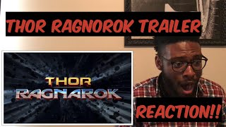 THOR RAGNAROK TRAILER 1 (REACTION)!!!