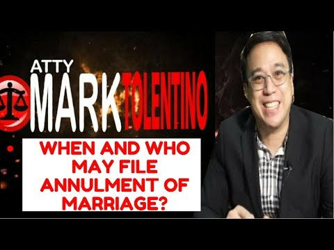WHEN AND WHO MAY FILE ANNUMENT OF MARRIAGE
