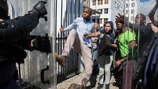 #FeesMustFall protest turns violent, 21 October 2015