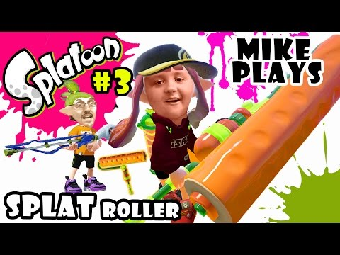 Lets Play SPLATOON Part 3:  Mike & the Splat Roller Dad & The Charger TURF WAR w Dad & Son