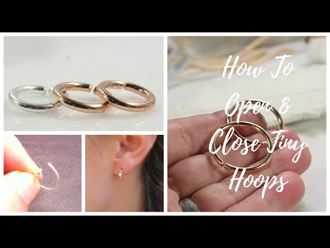 How To Put In And Take Out Tiny Hoop Earrings And Nose Rings Youtube