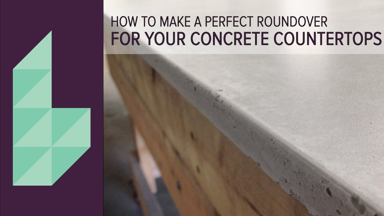 How To Make Concrete Countertops | Perfectly Rounded Edges With Easy  Silicone Application