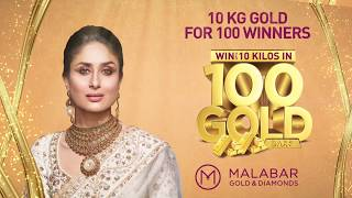 Win up to 10 Kilos of Gold for 100 winners at Malabar Gold & Diamonds- UAE