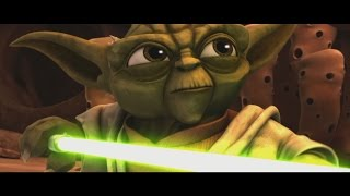 Star Wars: The Clone Wars - Master Yoda vs  Separatist Droid Army [1080p]