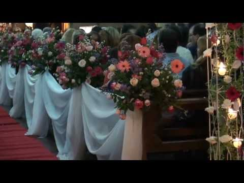 close arranjo corredor de casamento - YouTube