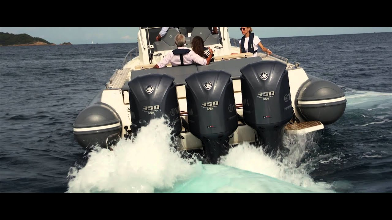 Yamaha made for water f350 outboard engine in action for Yamaha diesel outboard