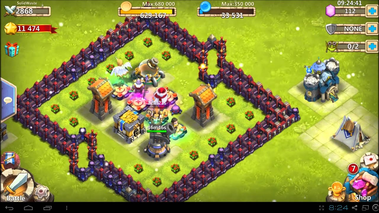 Castle clash how to guide town hall 12 wave c 2800 might