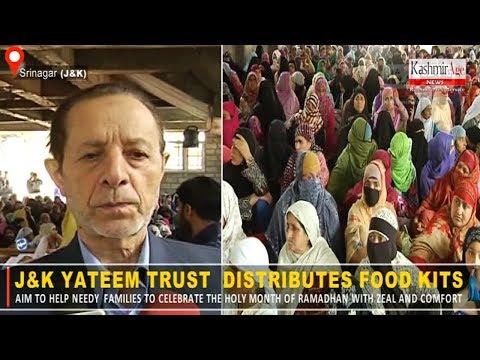 J&K Yateem Trust  Distributes Food Kits