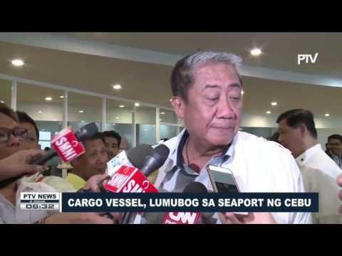 Cargo vessel, lumubog sa seaport ng Cebu