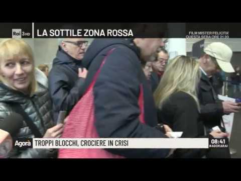 Troppi blocchi, crociere in crisi - Agorà 02/03/2020