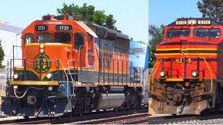 Norfolk Southern 8114 + RARE Amtrak & BNSF Trains